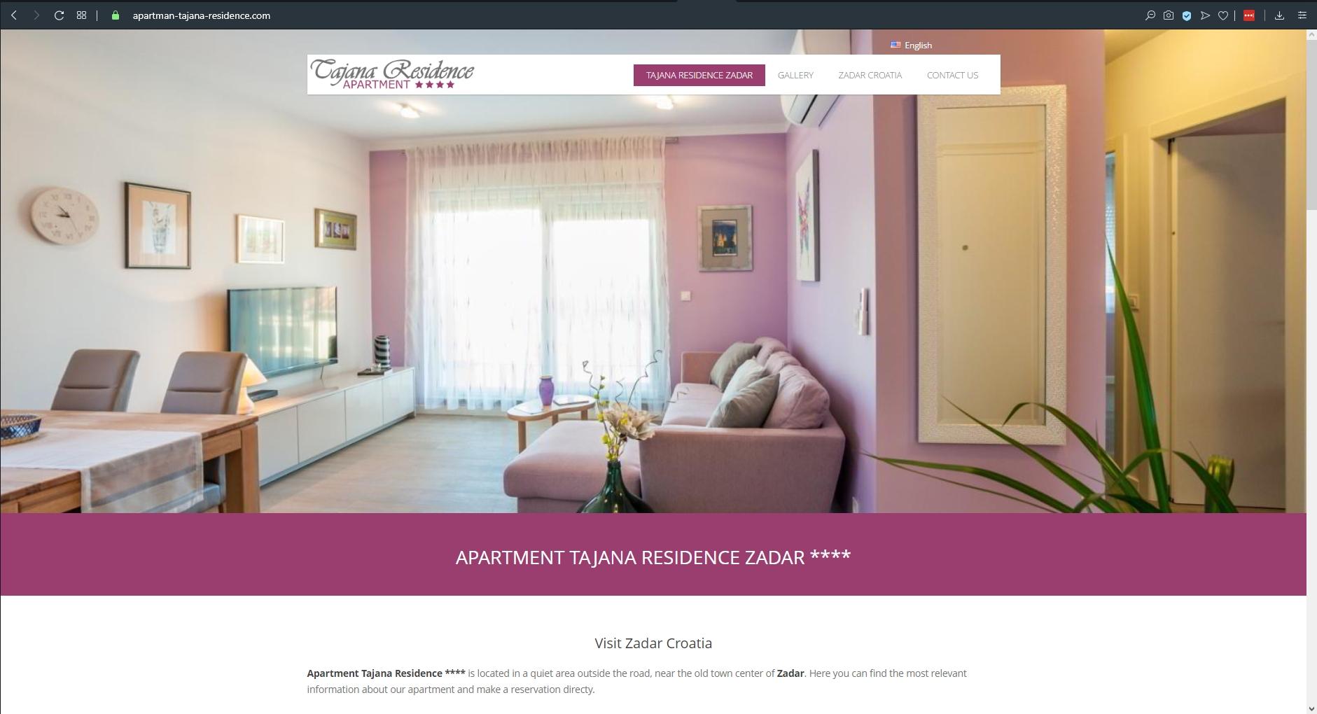 Apartman Tajana Residence Zadar